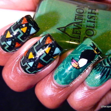 Jungle Tribal Nail Art nail art by Tamira (Lacquer Lockdown)