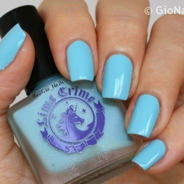 Lime Crime Once in a Blue Mousse Swatch by Giovanna - GioNails