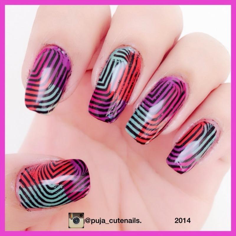 Multicolour nail art nail art by Puja Malhotra