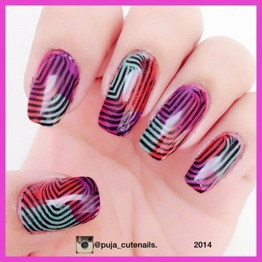 Multicolour nail art nail art by Puja Malhotra