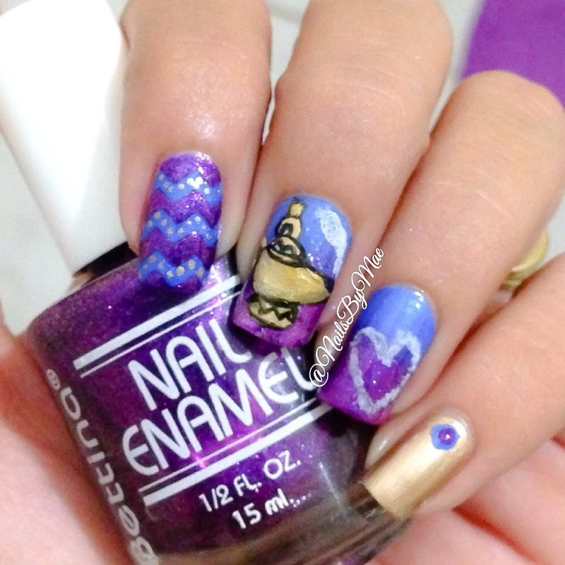 Genie, you're free nail art by Sheily (NailsByMae)