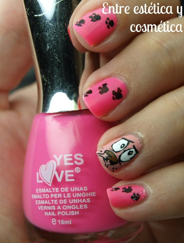 Courage the Cowardly Dog - Nails nail art by MartaRuso