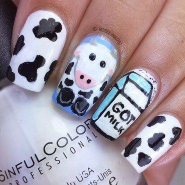 Got Milk? nail art by Rose Mercedes