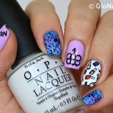 Let's Party with Polish! nail art by Giovanna - GioNails