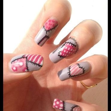 Patchwork nail art by Carrie