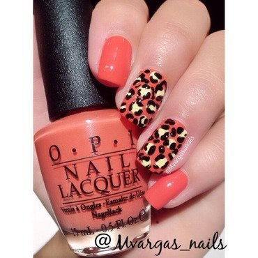 Cheetah nails nail art by Massiel Pena