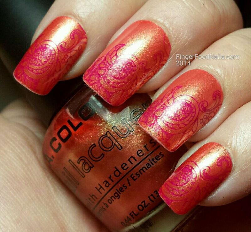The Digit-al Dozen does Summer Day 3 - Indian Summer nail art by Sam