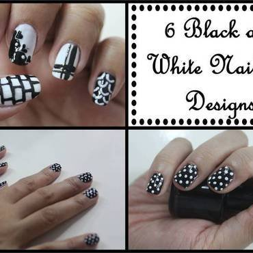 Simple Black and White Nail Art Designs nail art by ImJanine0812