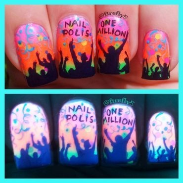 Nailpolis Celebration Nail Art! nail art by Ruth Cox (@firefly5)