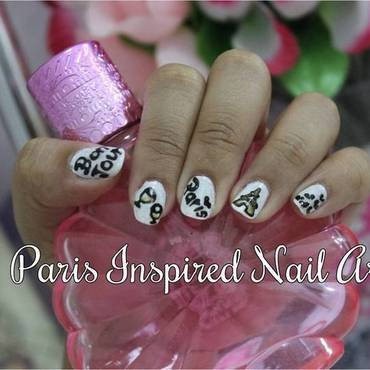 Paris Inspired Nails nail art by ImJanine0812