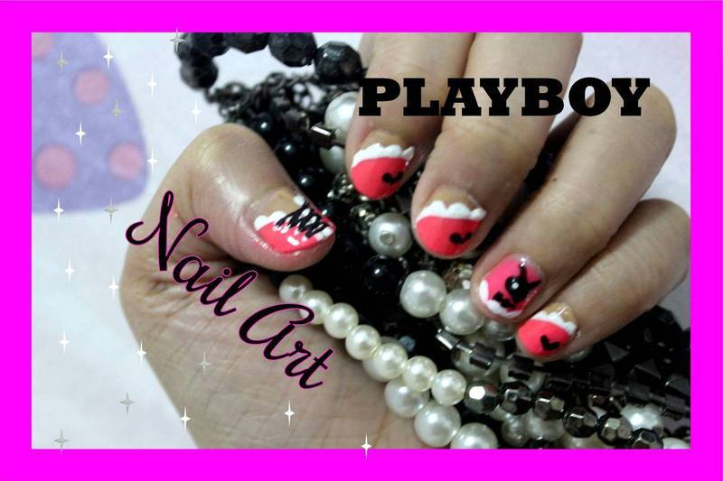 Playboy Nail Art nail art by ImJanine0812