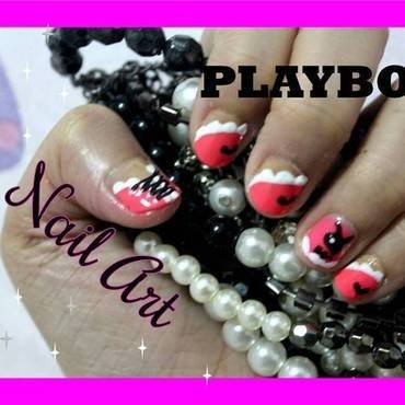 Playboy Nail Art nail art by ImJanine0812