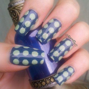 Big Polka Dots nail art by Ruth Cox (@firefly5)