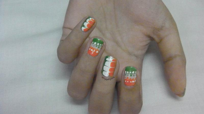 68th Indian Independence Day Nails! nail art by Nailz4fun