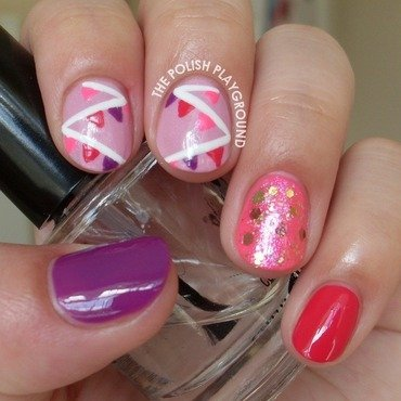 Sweet and Girly Decoration Skittle nail art by Lisa N