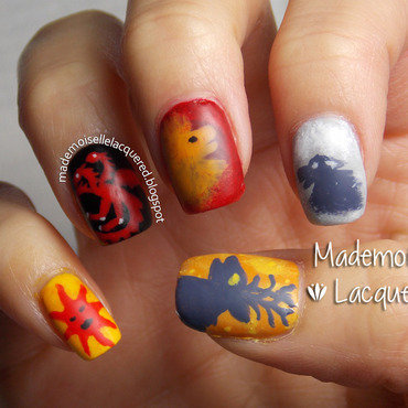 Game Of Thrones Nails nail art by Emilia