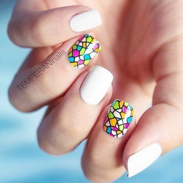 Enchanted windows nail art by Temperani Nails