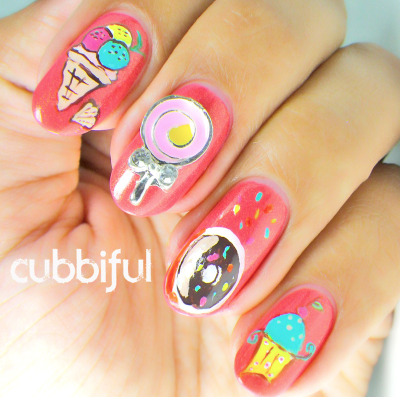 I'll Have Some Icecream... And A Donut... And...  nail art by Cubbiful