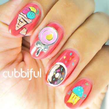 Icecream and donut nails thumb370f
