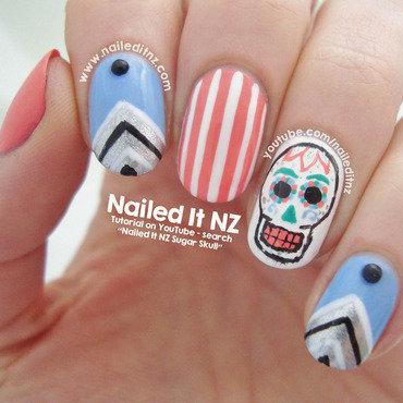 Sugar Skull Nail Art nail art by Jessie Mills