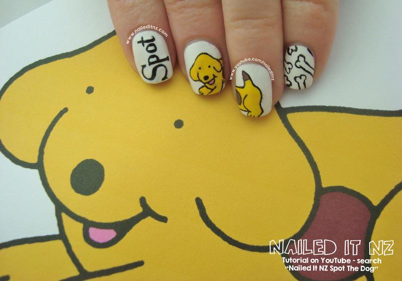 Spot the Dog Nail Art nail art by Jessie Mills