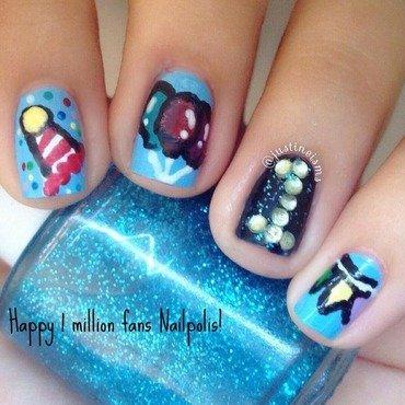 1M Nailpolis Fans nail art by ℐustine