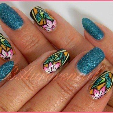 tropical nail art by BAurorenail