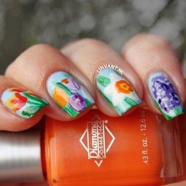 Keukenhof nail art by Lin van T