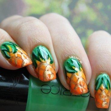 Ananas nail art by Lin van T