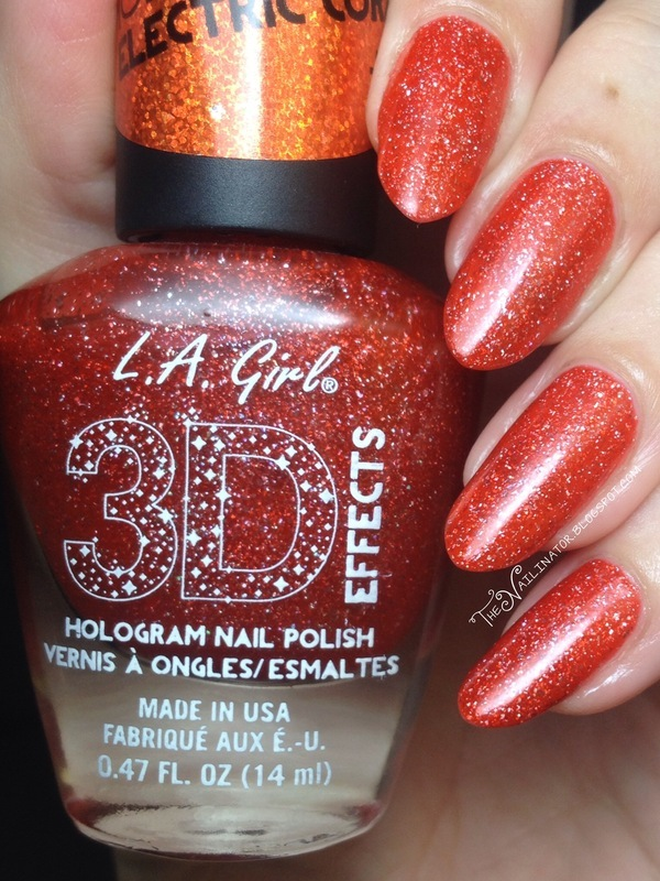L.A. Girl Electric Coral Swatch by Rachael Robinstein
