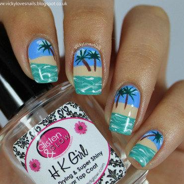 Desert Island Nail Art nail art by Vicky Standage