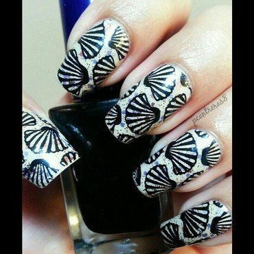 Seashell Wishes nail art by pcontreras8nails