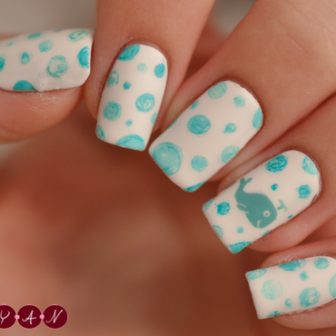 A Whale of a Time nail art by Becca (nyanails)