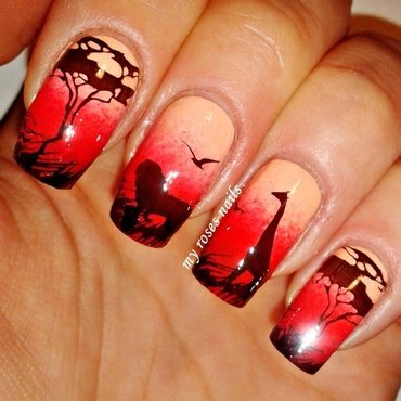 Wild Africa part 2  nail art by Ewa