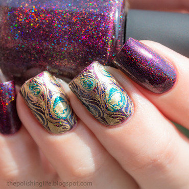 Peacock nails thumb370f