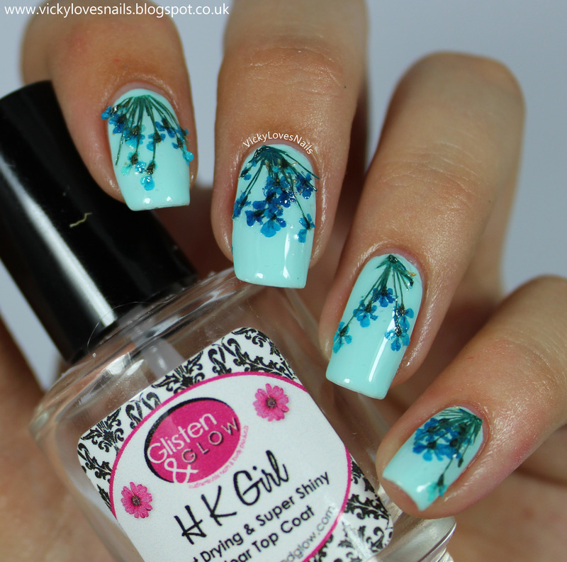 Real Dried Flowers nail art by Vicky Standage - Nailpolis: Museum of ...