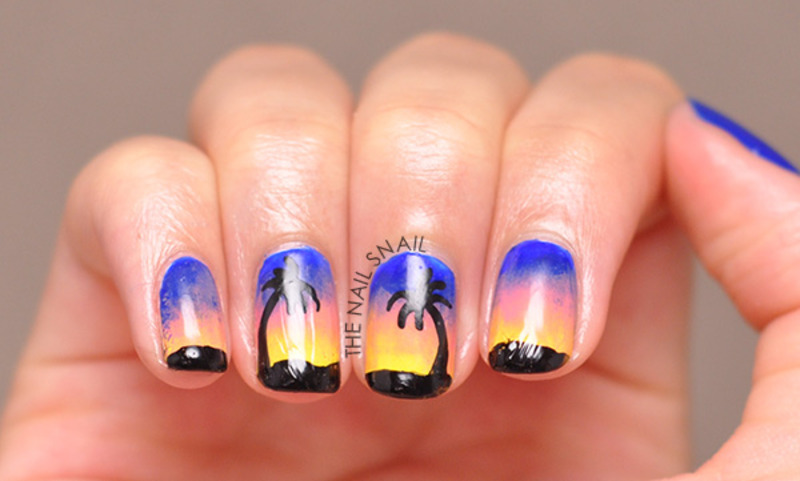 Tropical Nails nail art by Lucy (the Nail Snail)
