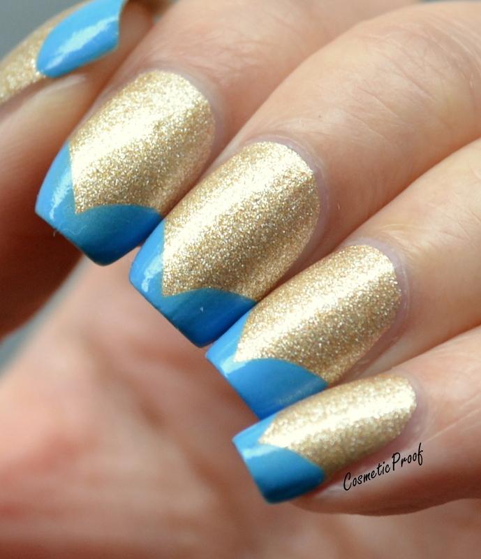 Blue Tips ala Katy Perry Dark Horse Nails nail art by Jayne ...