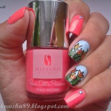 Tulips :) nail art by Anita