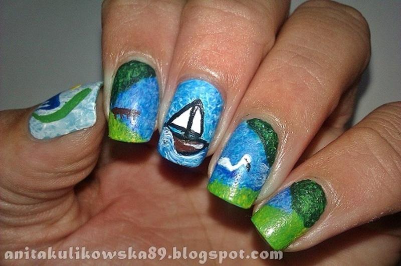 Mazury Nails nail art by Anita