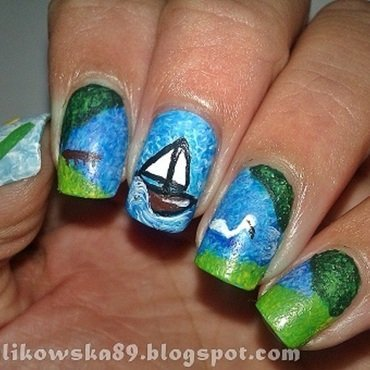 Mazury Nails nail art by Anita