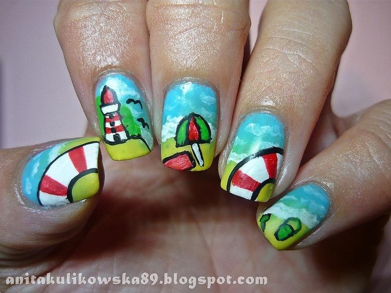 Sea Bałtyk Nails nail art by Anita