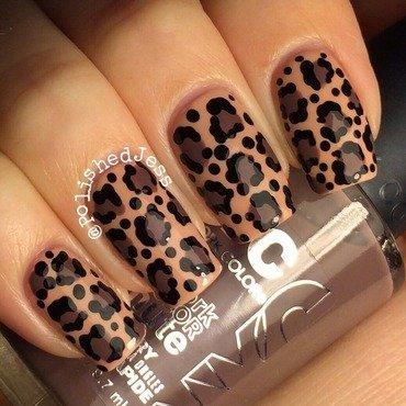 Natural Leopard Print  nail art by PolishedJess