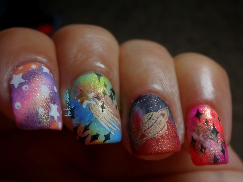 Galaxy Nails nail art by Nicky