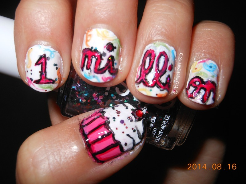 1 million nail art by bonnieerika