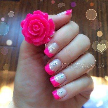 Rose tuxedo nail art by Anna-Maria D