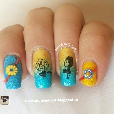 3D Rakhi Nail Art nail art by Uma mathur
