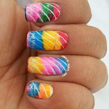 Lahriya, indian fabric print nail art by Uma mathur