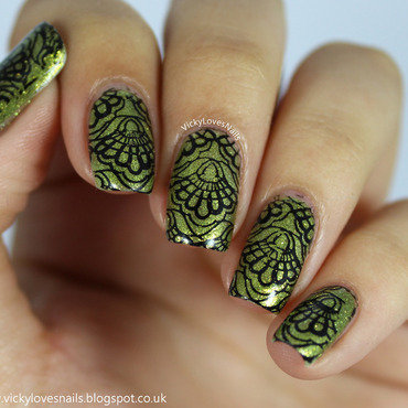 Green Nails for Depression Awareness nail art by Vicky Standage