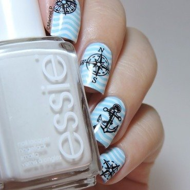 Sailor nails nail art by Marine Loves Polish